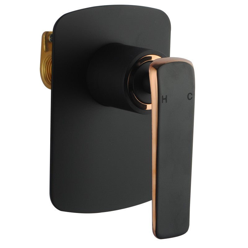 Anna Matt Black and rose gold Shower or Bath Mixer