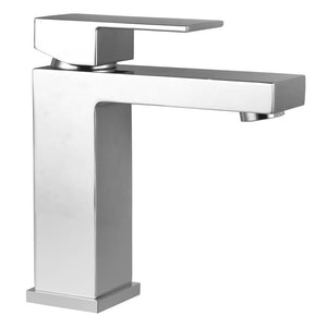 Panama Square Chrome Basin Mixer