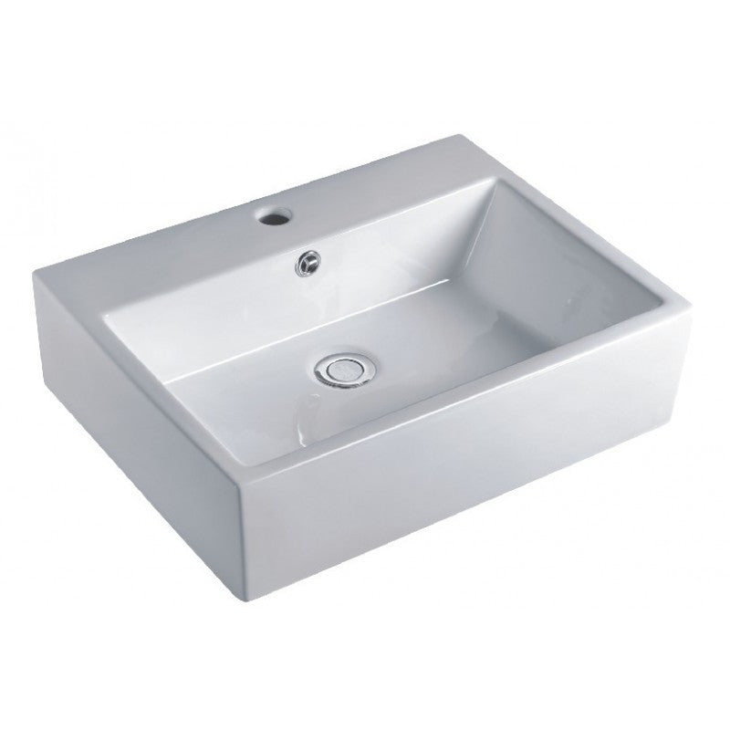 Above Counter/Wall-hung Square White Bathroom Vanity Ceramic Basin Sink 510*425*140mm