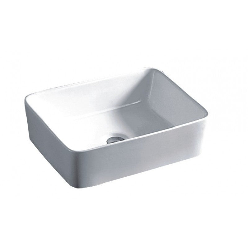 Above Counter Square White Bathroom Vanity Ceramic Basin Sink 480*370*130mm