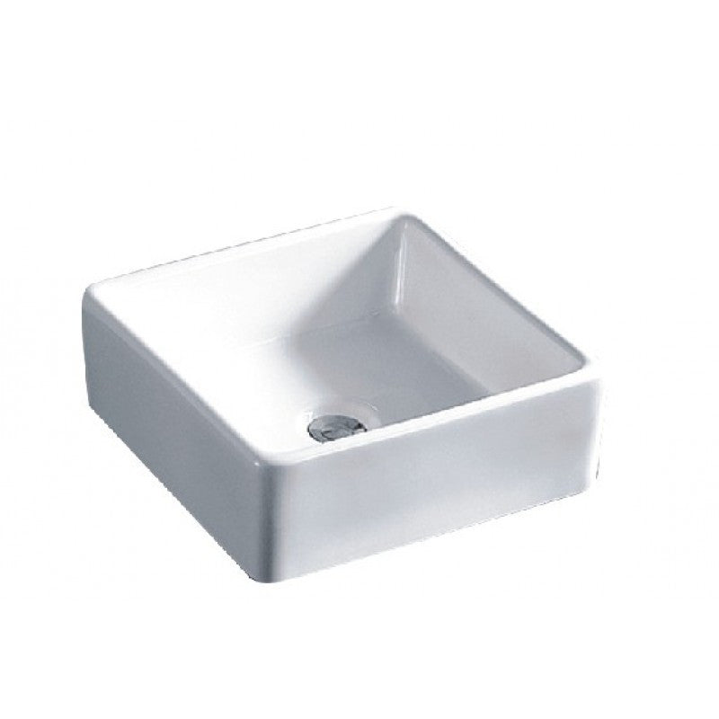 Above Counter Square White Bathroom Vanity Ceramic Basin Sink 375*375*155mm