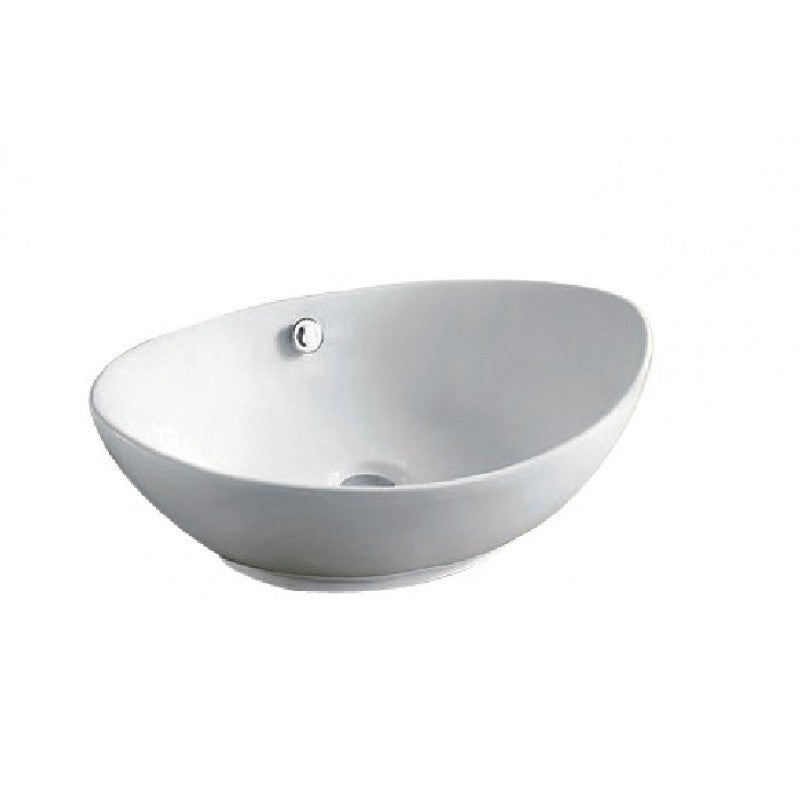 Above Counter Oval White Bathroom Vanity Ceramic Basin Sink 585*380*190mm