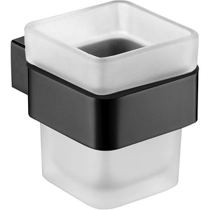 Avoca Matt Black Bathroom Cup Holder