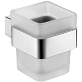 Brisbane Chrome Bathroom Cup Holder