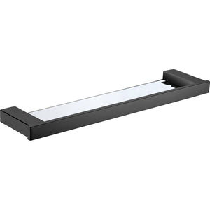 Avoca Matt Black Bathroom Glass Shelf