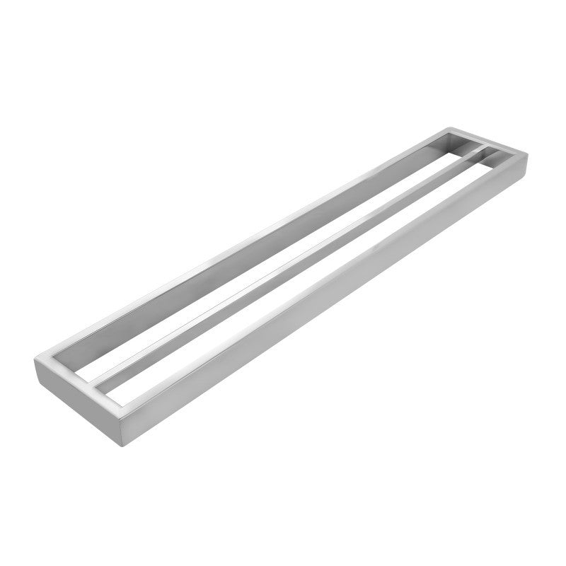 Kube Square Chrome Double Towel Rail 600mm