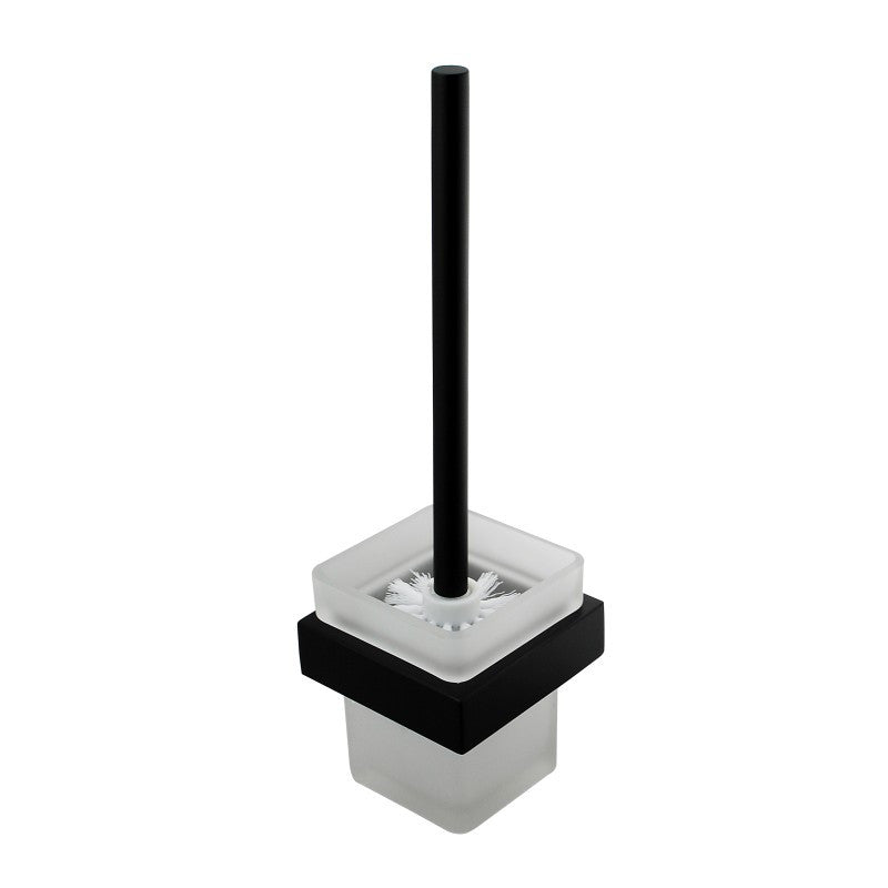 Kube Series Matt Black toilet brush Holder