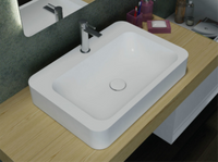 Aurora 600mmx415mm WALL HUNG / COUNTER TOP STONE BASIN
