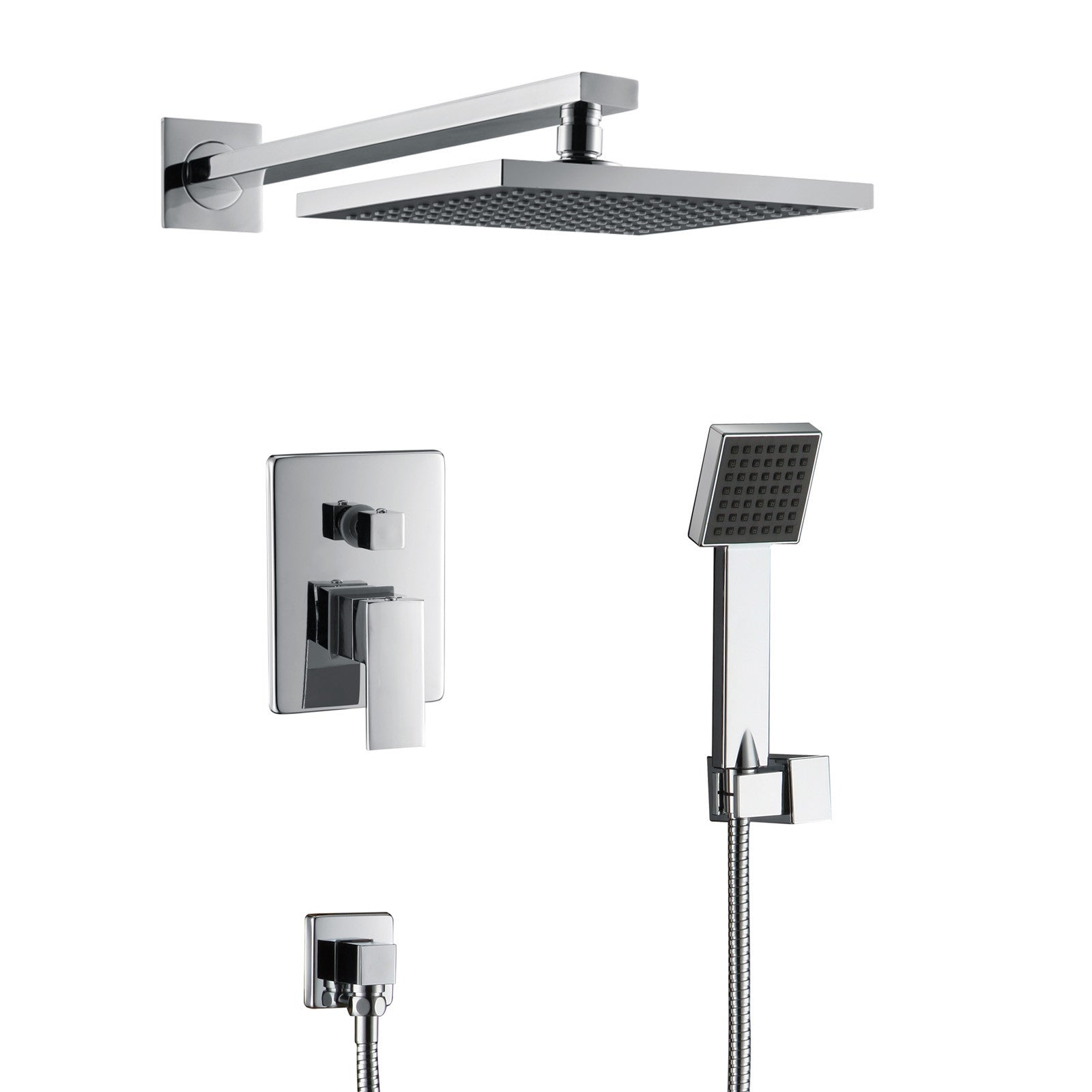 qrs full the polished stands spray rain overhead kohler showerhead bathroom honed emprise mirrors tile night size travertine head cool tv tiles in shower watertile chrome ceiling of group