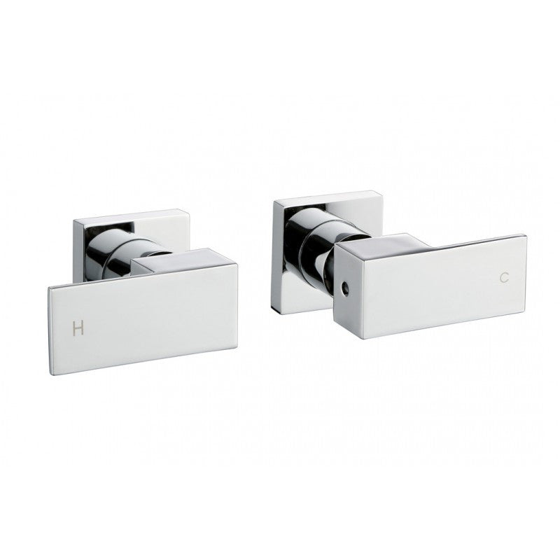 Panama Square Chrome Shower/Bath Taps | Bathroom Trade Shed