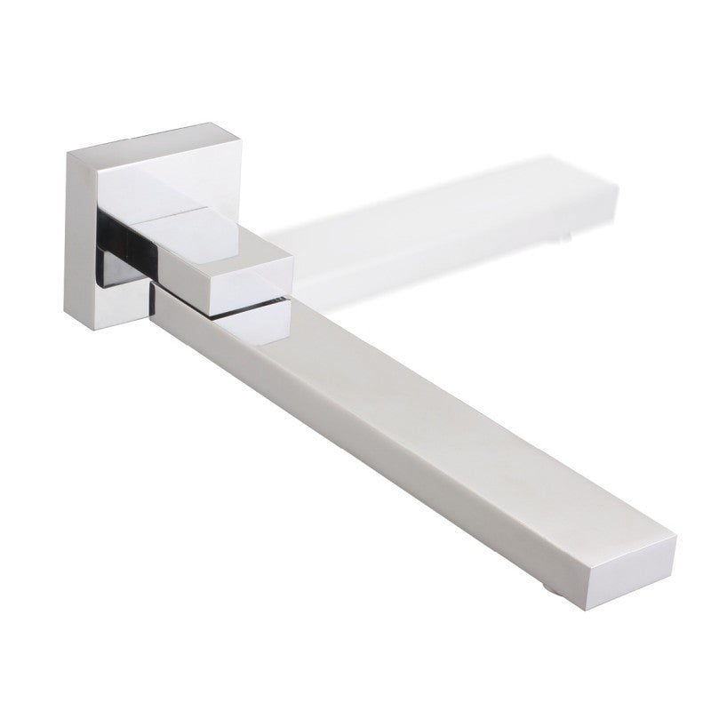 Panama Square Chrome Bathtub/Basin Spout