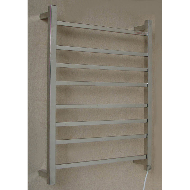 8 Square Bar Heated Towel bar - 600mm wide