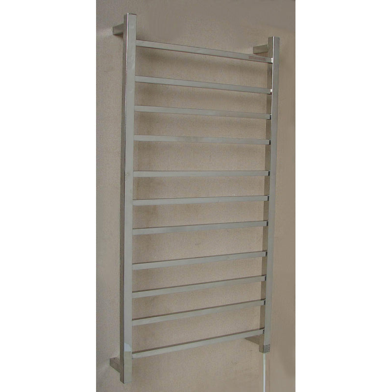 11 Square Bar Heated Towel bar - 600mm wide