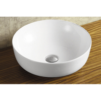 Above Counter/Wall-hung Round White Bathroom Vanity Ceramic Basin Sink 410*410*145mm