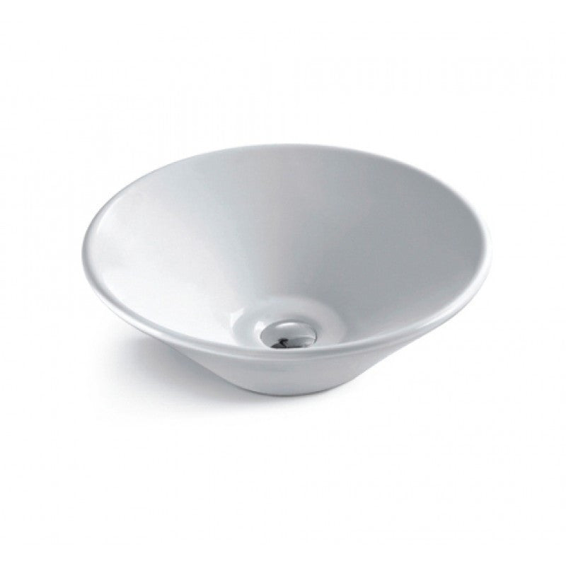 Above Counter Bowl White Bathroom Vanity Ceramic Basin Sink 415*415*150mm