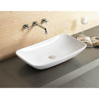 Above Counter Square White Bathroom Vanity Ceramic Basin Sink 695*390*130mm
