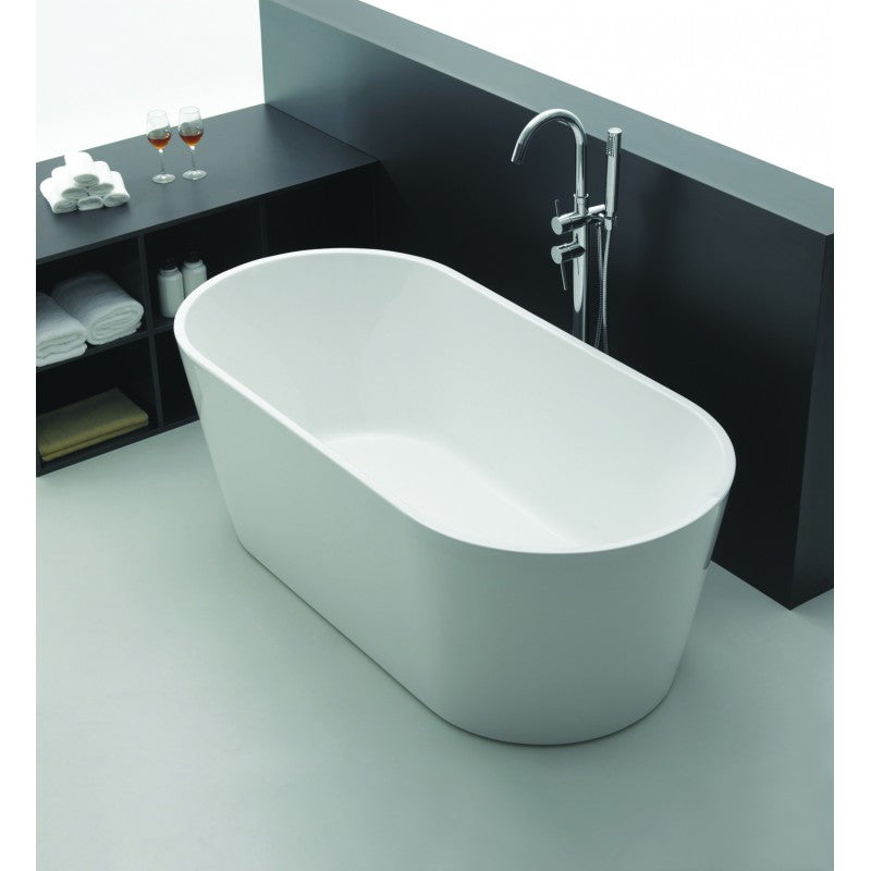 Venice Oval White Freestanding Bath Tub 1700x800x600mm