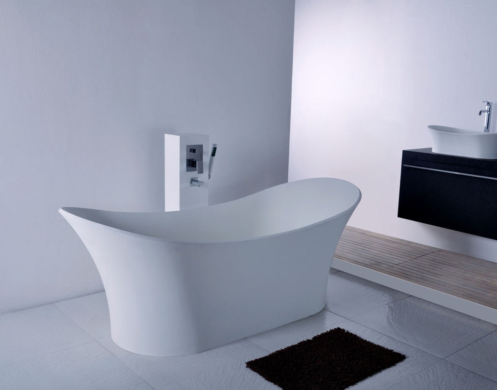 Pinnacle Free Standing Stone Solid Surface Bath tub - 1750mm