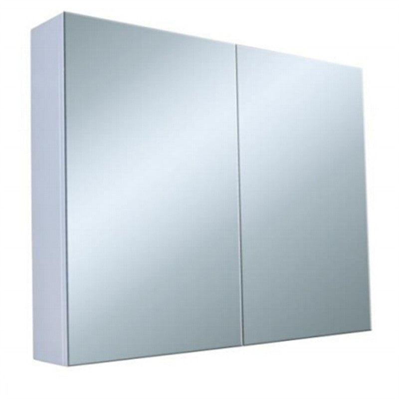 Pencil Edge White Shaving Cabinet with Mirror 750x720x150mm