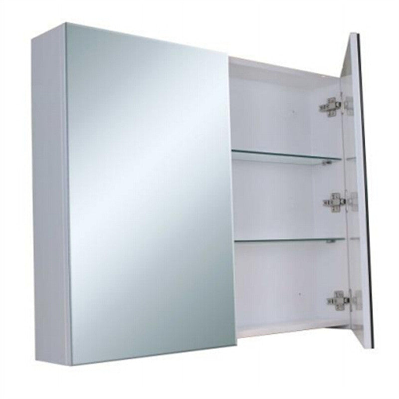 Bevel Edge White Shaving Cabinet with Mirror 900x720x150mm
