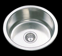 425mm x 160mm Round Single Bowl Sink