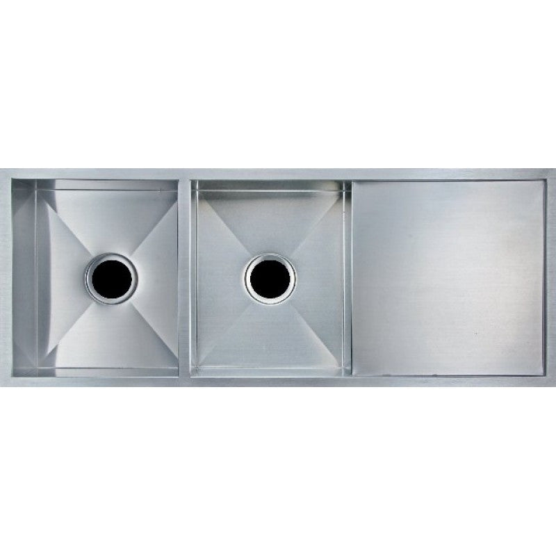 Handmade Kitchen Sink Double Bowl 1160mm | Bathroom Trade Shed