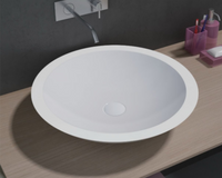 Vittoria 515mm x 515mm x 105mm ROUND ABOVE COUNTER TOP STONE BASIN