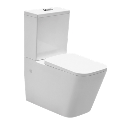 Deluxe Rimless Back to Wall Toilet Suite - X-Cube