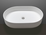 Aletta Counter Top Basin 580mm x 380mm x 110mm Stone Solid Surface Matt White