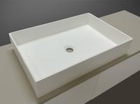 Ginevra 580mm x 380mm x 110mm RECTANGLE ABOVE COUNTER TOP STONE BASIN