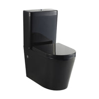 Black Wall Facing Toilet Suite - Round S or P Trap
