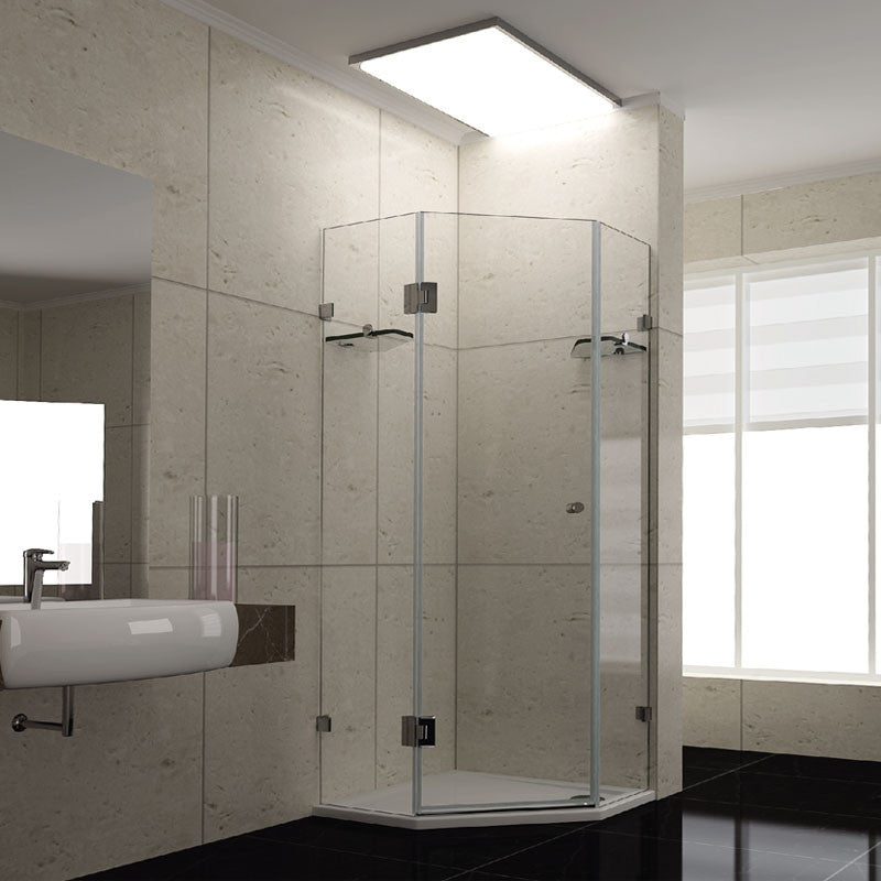 900mm x 900mm x 2000mm Diamond Frameless Shower Screen
