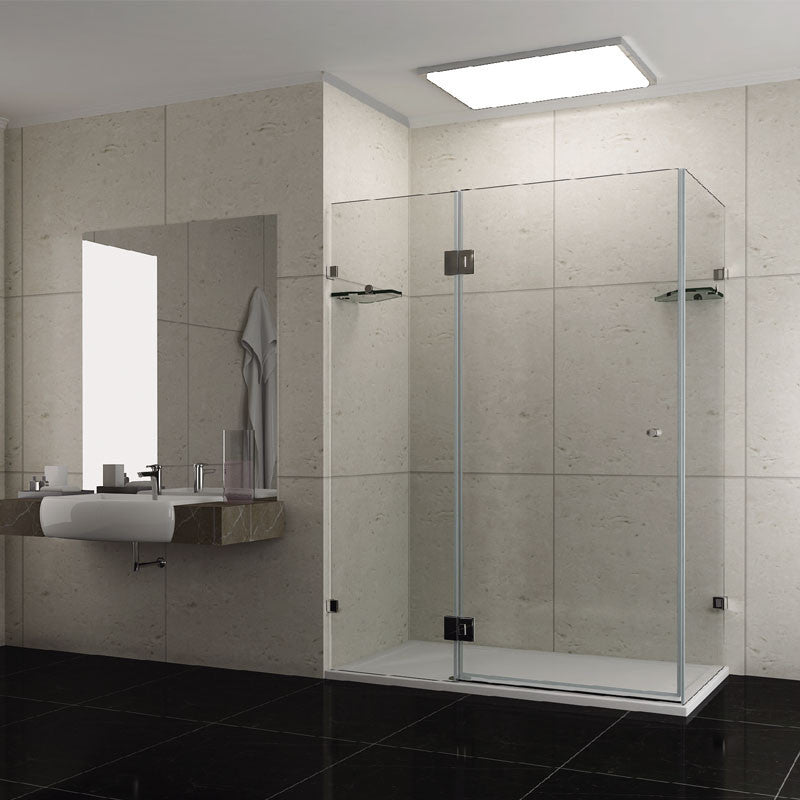 900mm x 900mm x 1950mm Frameless Shower Screen