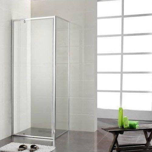 1000mm x 1000mm x 1950mm Square Frame Pivoting door Shower Screen