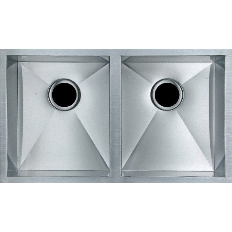 820mm x 457mm x 230mm Handmade Topmount Or Undermount Kitchen Sink Double Bowl