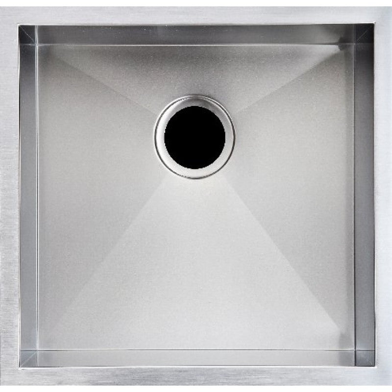 440x440x200mm Handmade Topmount Undermount Kitchen Sink Single Bowl LEAD FREE SS304 Square 1.2mm
