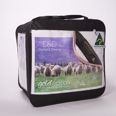 Dorset & Downs Gold Edition 500 Wool Quilt