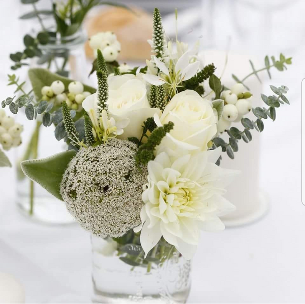 White table arrangements