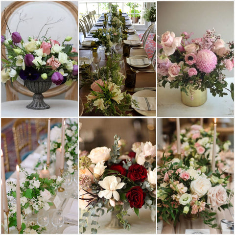 Table wedding arrangements Sydney wedding florist