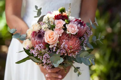 Native pink bridal bouquets