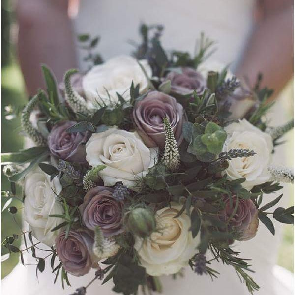 Purple and mauve wedding flowers Sydney