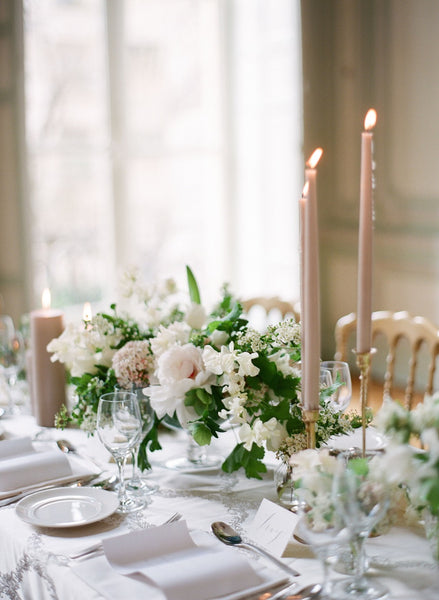 White wedding table arrangements Sydney wedding florist