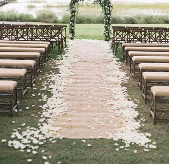 Burlap Aisle runner wedding hire Sydney