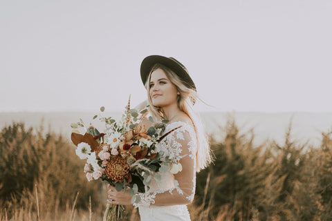 Boho wedding inspiration bouquets