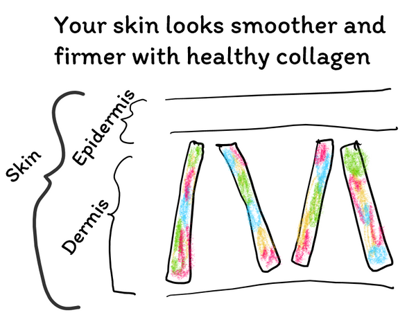 Your skin looks smoother and firmer with healthy collagen