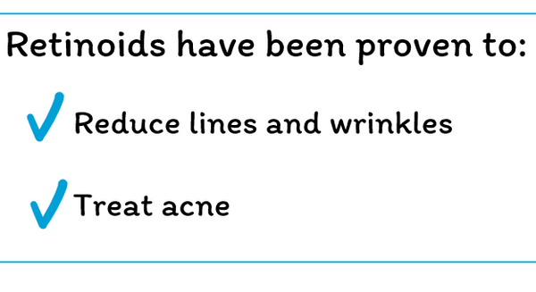 retinoids have been proven to reduce wrinkles
