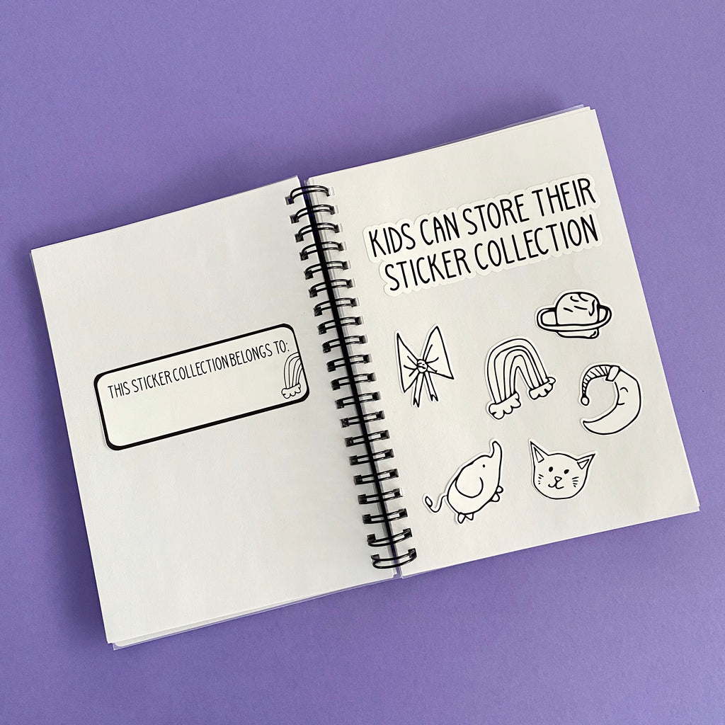 Colour In Kids Reusable Sticker Book | Hand Drawn by Sophie