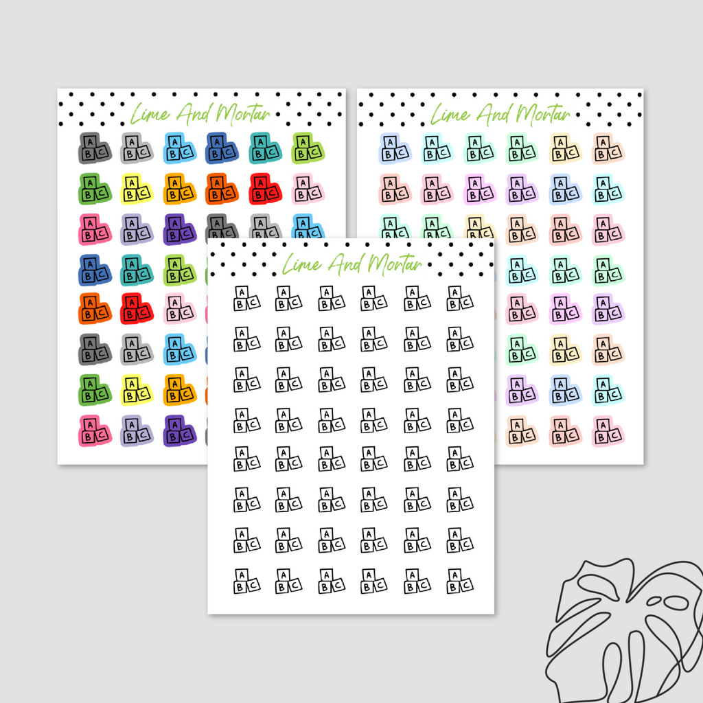 ABC Mini Icon Stickers