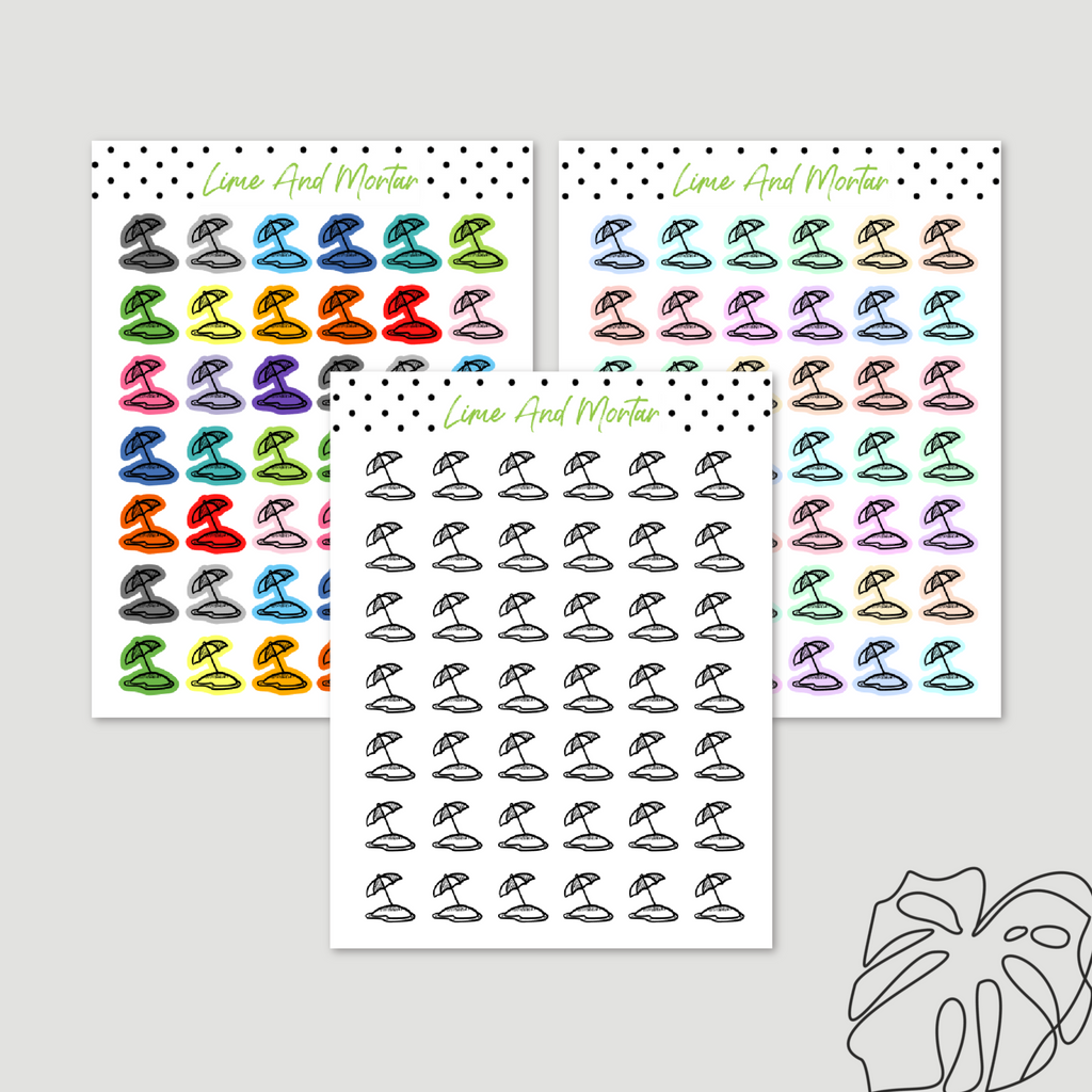 Beach Day Mini Icon Stickers