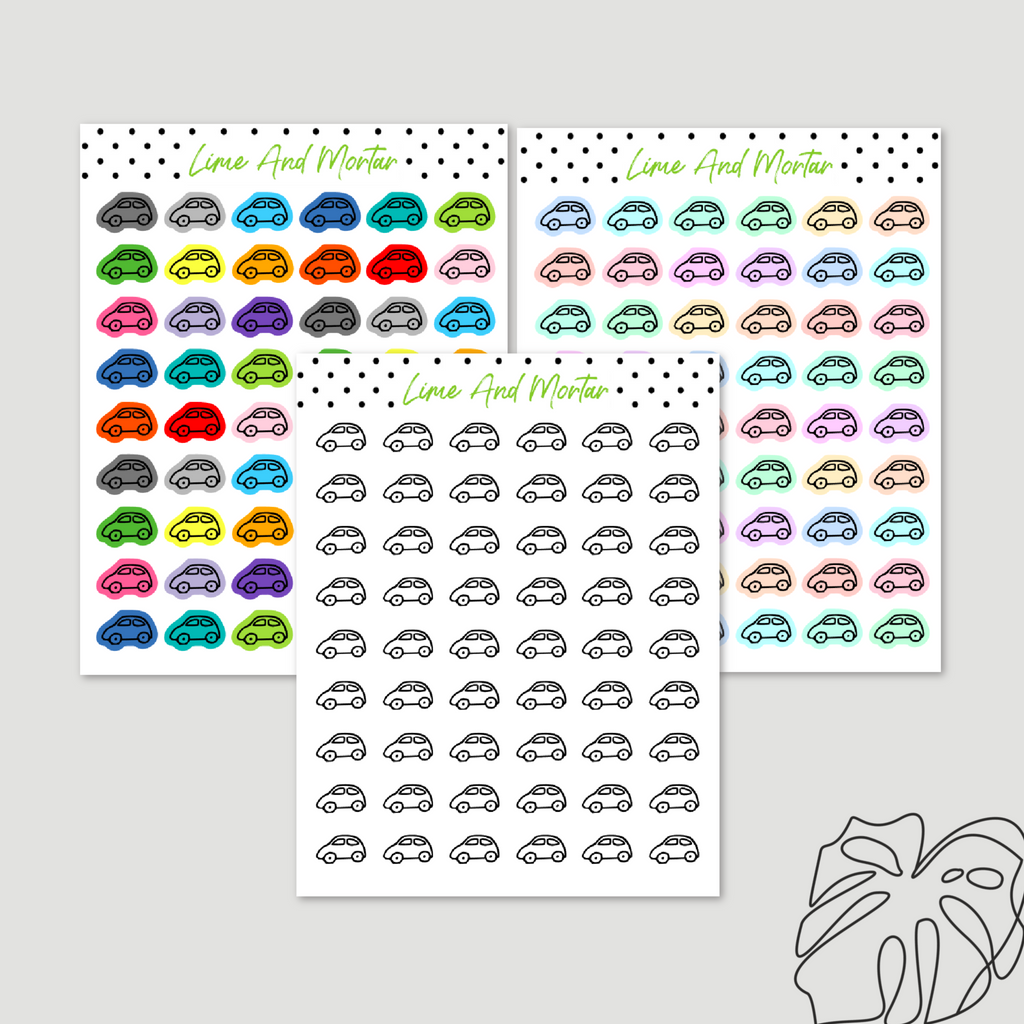 Car Mini Icon Stickers